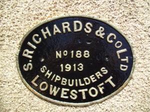 John Mitchell builder's plate